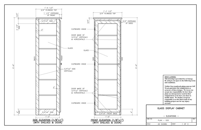 plans for display cabinet